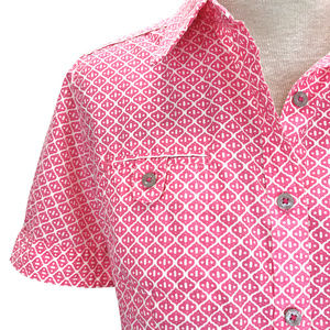 The North Face Pink Cream Moroccan Button Shirt M